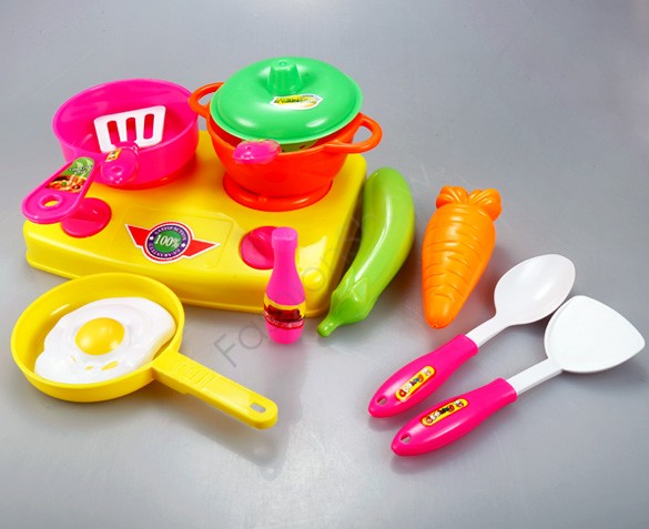4 pcs/lot 13pcs/set Cooking Tools Classic Toys Early Education Baby Educational Role Playing Kitchen Toys Set 25(China (Mainland))