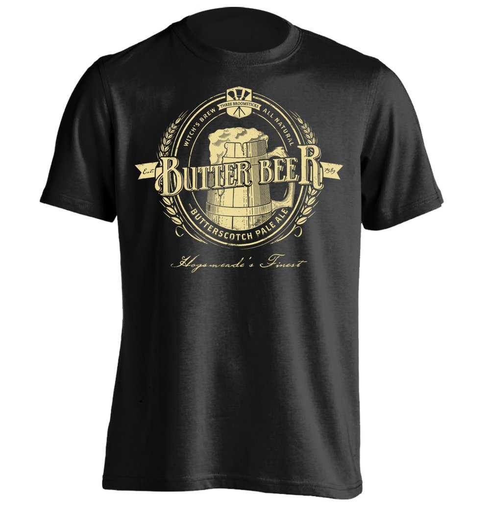 butterbeer vintage mens printing t shirt custom tee in t shirts from men 39 s clothing. Black Bedroom Furniture Sets. Home Design Ideas