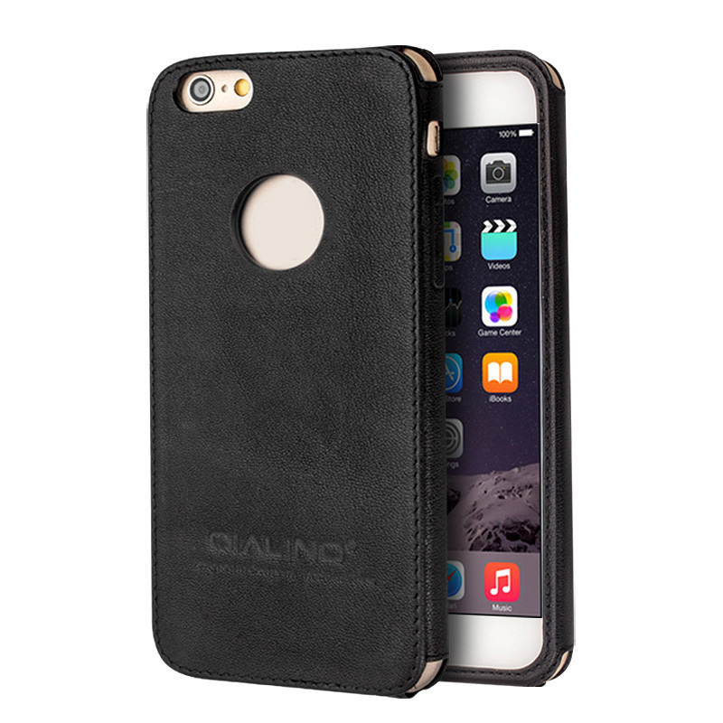 Qialino 100% Genuine top layer Leather Phone Case For iPhone 6 Plus back cover for iphone6