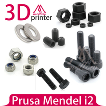 DIY Prusa Mendel i2 3D Printer parts Fasteners-Screws Bolts+ Nuts+ Washers, Reprap Prusa Mendel i2 Hardware Kit