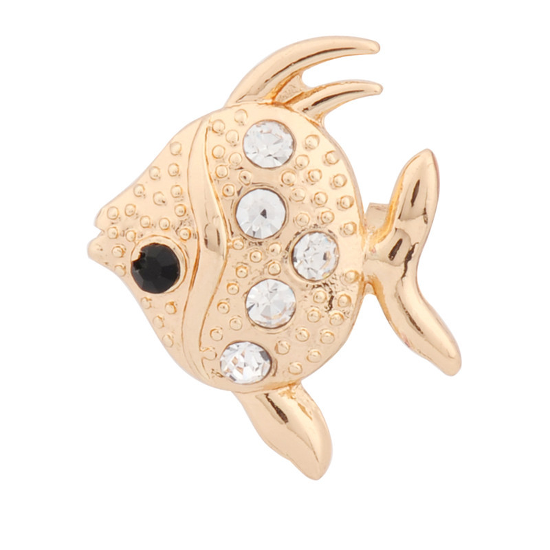 Cheap Brooches Pins Silver Gold Plated Fish Shaped Famous Designer Jewelry for Women ZXZ072