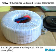 Buy HIFI Amplifier Dedicated Toroidal Transformer 120W Wire Double 18V Dual 22V LM4766 TA2022 LM3886 amplifier DIY for $23.99 in AliExpress store