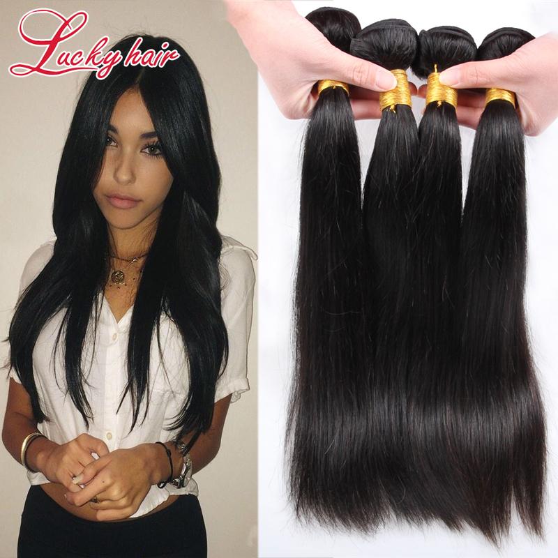 Brazilian Virgin Hair Straight 4 Bundles Unprocessed Brazilian Hair Weaving 6A Luxy Hair Company Remy Straight Hair Weave<br><br>Aliexpress