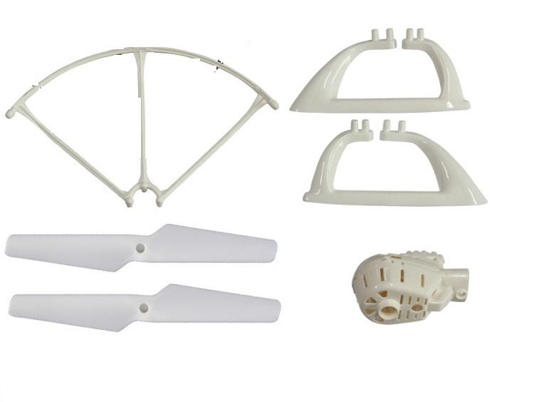MJX X400 2.4G RC quadcopter parts landing gear 4pcs+motor socket 4pcs+main blade 4pcs+Blade Protecting Frame 4pcs free shipping
