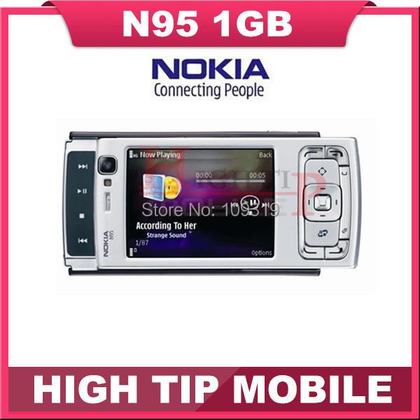 Nokia N95 Original unlocked GSM 3G 5MP WIFI GPS Mobile phone 2.6 inch 1 year warranty Drop free shipping Refurbished(China (Mainland))