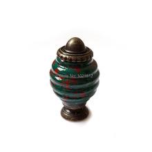 5pcs 23mm Green Spiral Ceramic Cabinet Knobs Cupboard Dresser Furniture Drawer Knobs Handles Pulls Kitchen Bedroom Kid's Room(China (Mainland))
