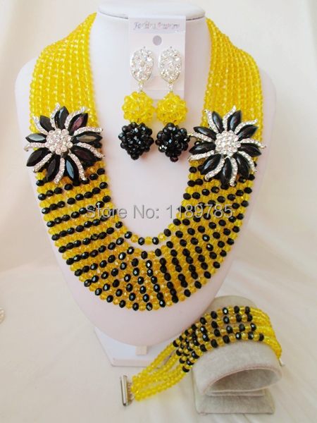 Luxury African Nigerian Crystal Beads necklace Fashion Wedding Set perfect India Women Bridal  Jewelry Set Free Shipping B-13132<br><br>Aliexpress
