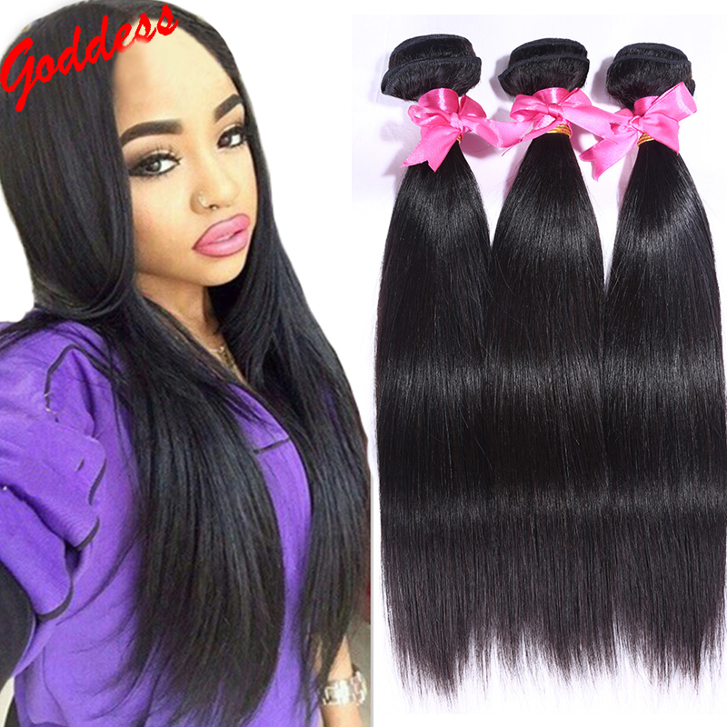 Brazilian virgin hair straight 3 bundles human hair weave 8-30 inch human hair extensions free shipping unprocessed remy hair