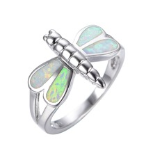 New Design Dimension 6/7/eight/9/10 Rainbow Opal 925 sterling silver ring Summer time type high-quality jewellery engagement rings for girls RP0003