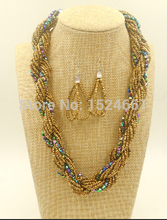 necklace  Statement Bohemian African Bead Jewelry Necklace   * seeds pearl chain necklace  necklace 2015(China (Mainland))