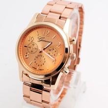 Buy Top Luxury Fashion Geneva Brand Crystal Wrist Watch Stainless Steel Quartz Watch Women Men Ladies H2049 for $5.40 in AliExpress store