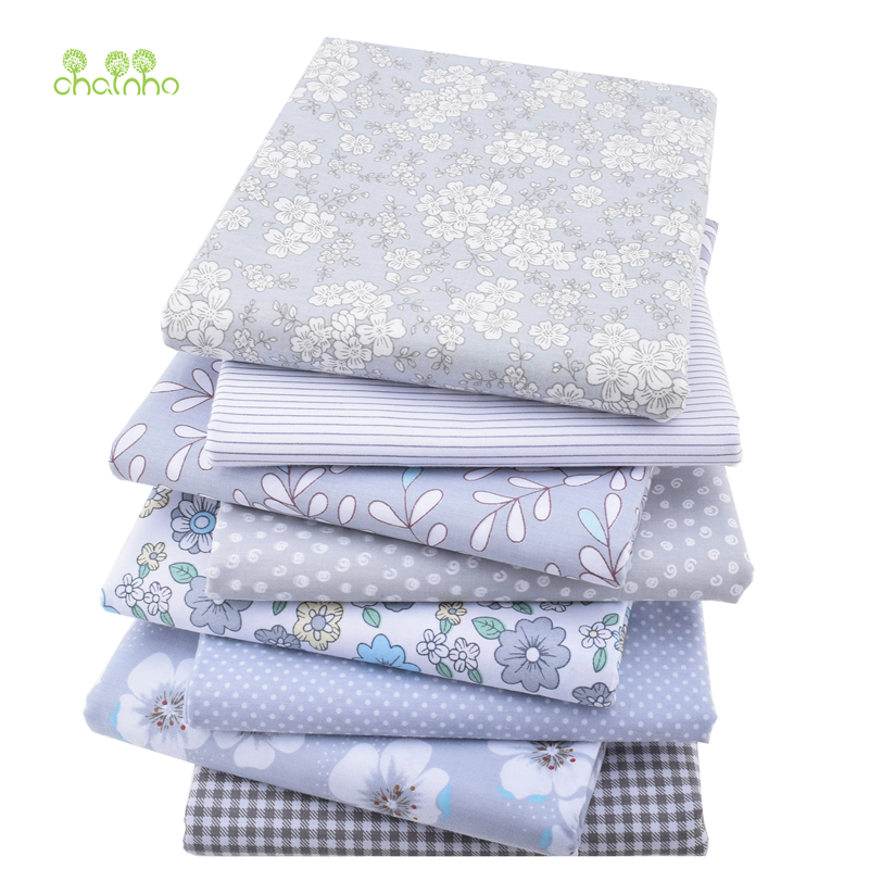 8pcs/lot,New Twill Cotton Fabric Patchwork Gray Tissue Cloth Fat Quarter Bundle Handmade DIY Quilting Sewing Textile Material