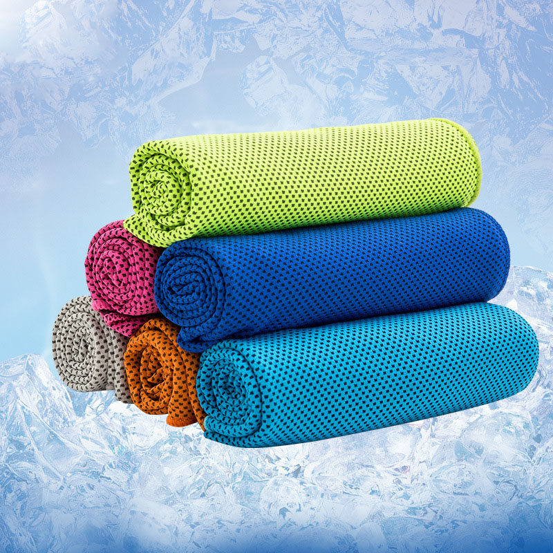 New Creative Cold Sports Towel Quick Dry Wipe Sweat Towel Exercise Ice Towel Summer Cooling Towel(China (Mainland))