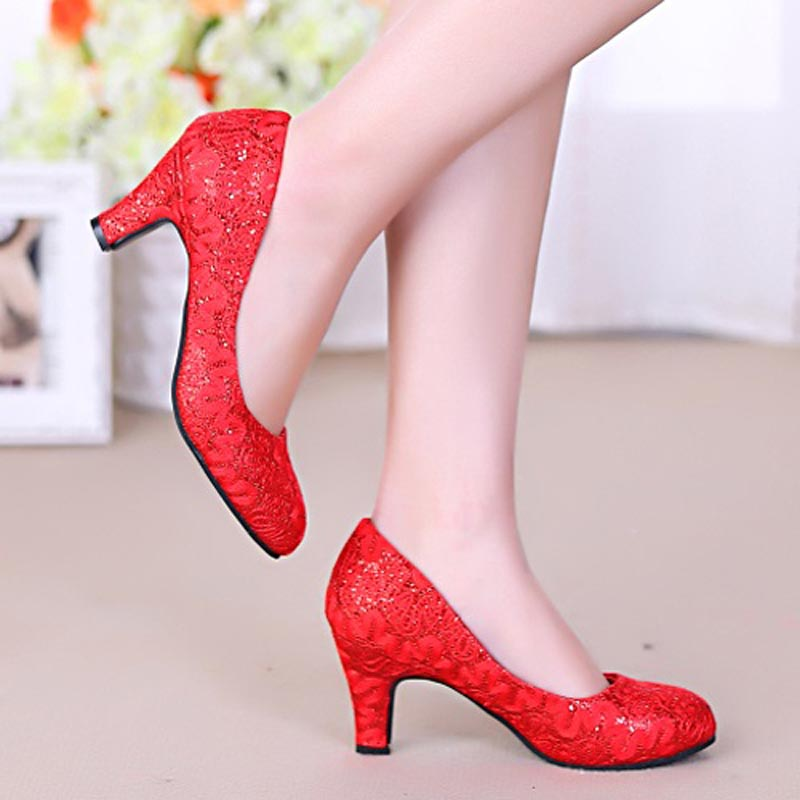 Thick with Wedding Shoes Woman Sexy High Heels Women Pumps Spring Autumn Ladies Chaussure Femme Zapatos Mujer sapatos femininos