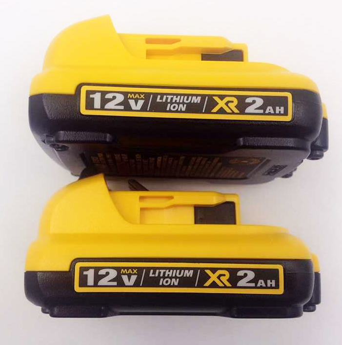 2pcs New DCB127 12V MAX Premium XR 2.0Ah Lithium-Ion Battery Pack for Dewalt Electric Tools(China (Mainland))