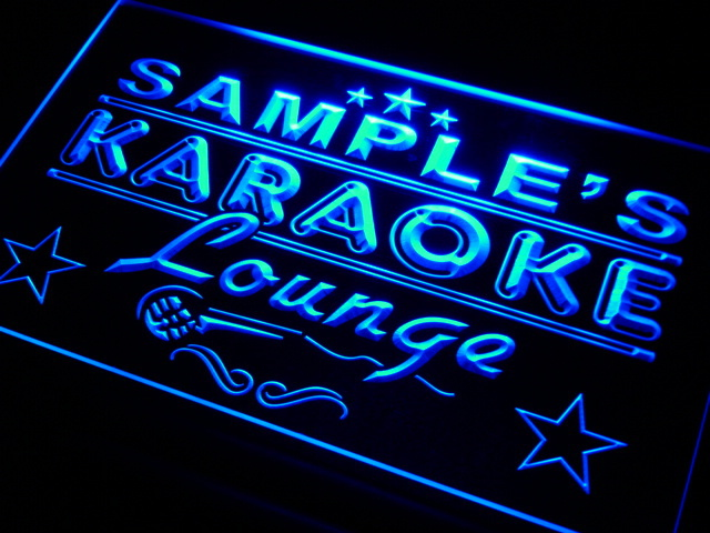 pk-tm Name Personalized Custom Karaoke Lounge Bar Beer Neon Sign Wholesale Dropshipping On/Off Switch 7 Colors DHL(China (Mainland))