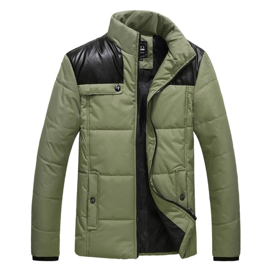 2013 new winter fashion casual men leather jacket thick