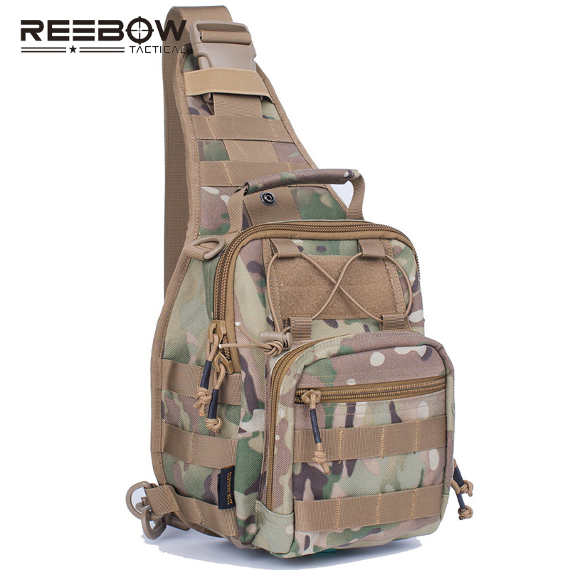 REEBOW Tactical Outdoor MOLLE Chest Bag 1000D CORDURA Nylon Sling Messenger Pack Camping Military Army Sports Casual(China (Mainland))