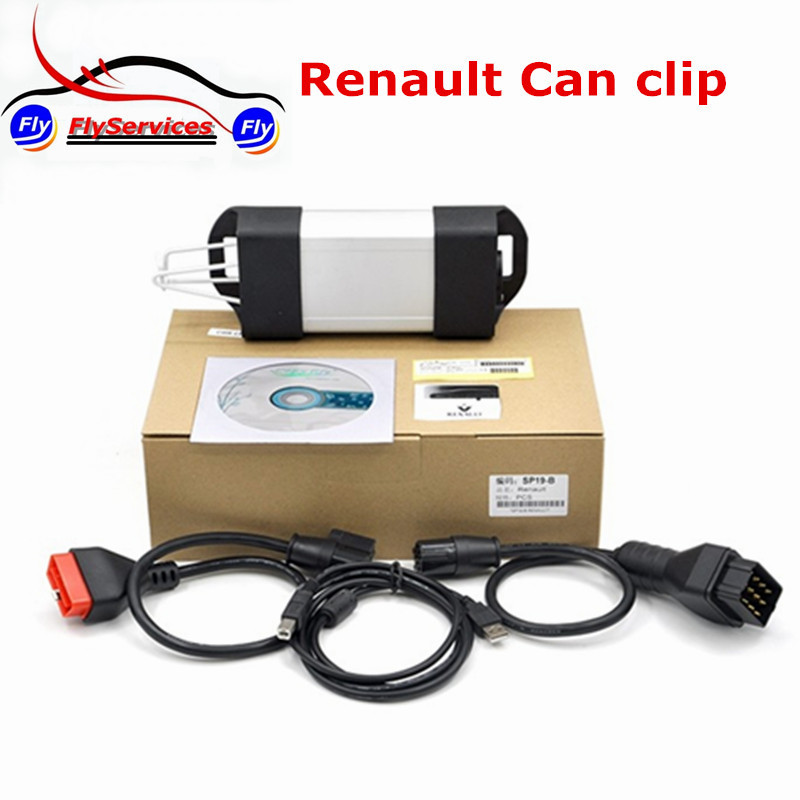 New Release Support Multi-Language Car Diagnostic Tools Renault Can Clip V160 Renault OBD Auto Diagnostic Interface On Sale(China (Mainland))