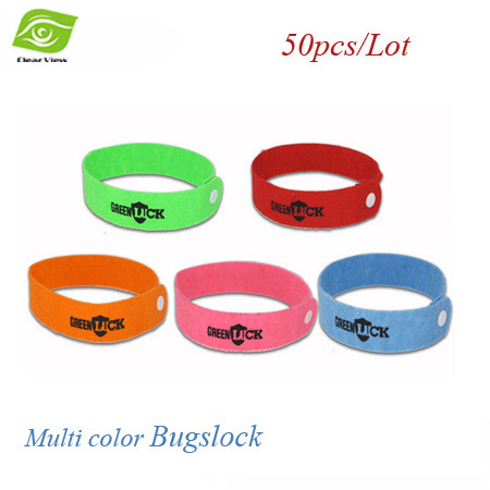 50pcs/Lot Mosquito Repellent Wrist Safe Mosquito Killer No Chemical Material Bugslocks 6 Colors Mosquito Repellent(China (Mainland))