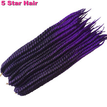 1 9 Piece lot Purple Havana Mambo Twist Crochet Braid Hair Havana Twist Crochet Hair Crochet