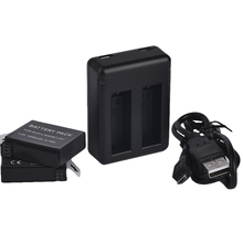 Freeshipping  2pcs 1160mAh AHDBT-401 Gopro hero 4 battery and Dual port Home Charger for Gopro hero4 hd camera