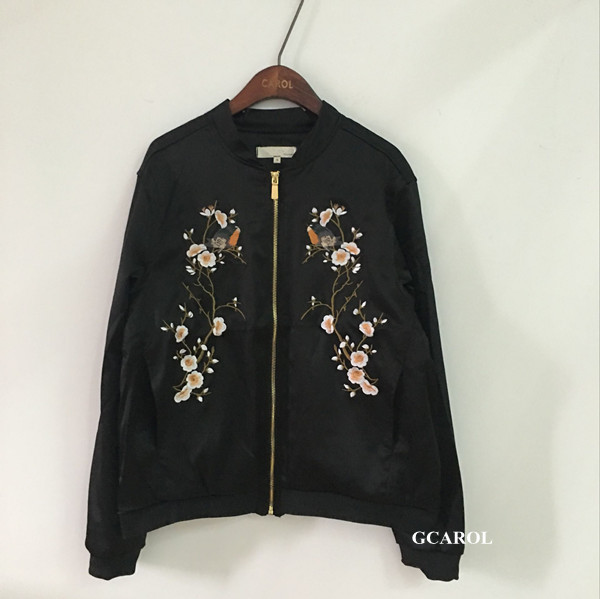 Women new plum blossom floral embroidered jacket fashion