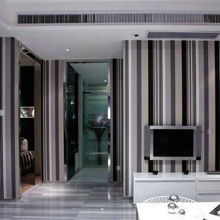 High Quality Modern Feature Vertical Striped PVC Wallpaper Wall Paper Roll For Living Room Bedroom(China (Mainland))