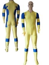 Yellow & Blue No Hood Spandex Deadpool Costume  Halloween costume