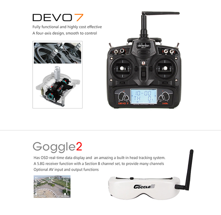 Walkera Runner 250 FPV Version Racing with Goggle 2 glasses RC Quadcopter Drone with OSD module