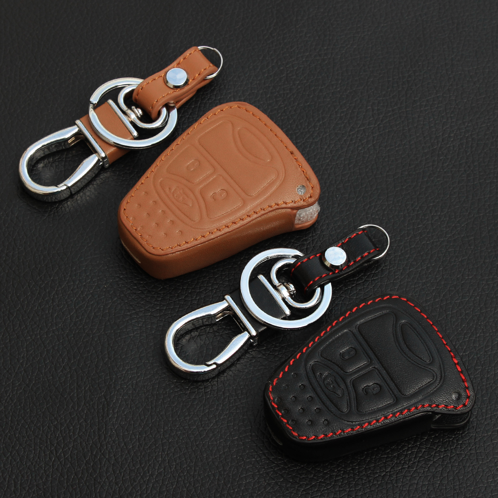 Top quality genuine leather car key covers case stickers for jeep wrangler grand cherokee compass patriot car parts accessories(China (Mainland))