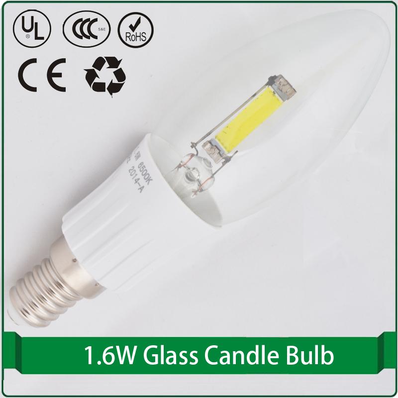 candelabra base clear glass shade led bulb plate led bulb led candle light led lamp candle e14(China (Mainland))