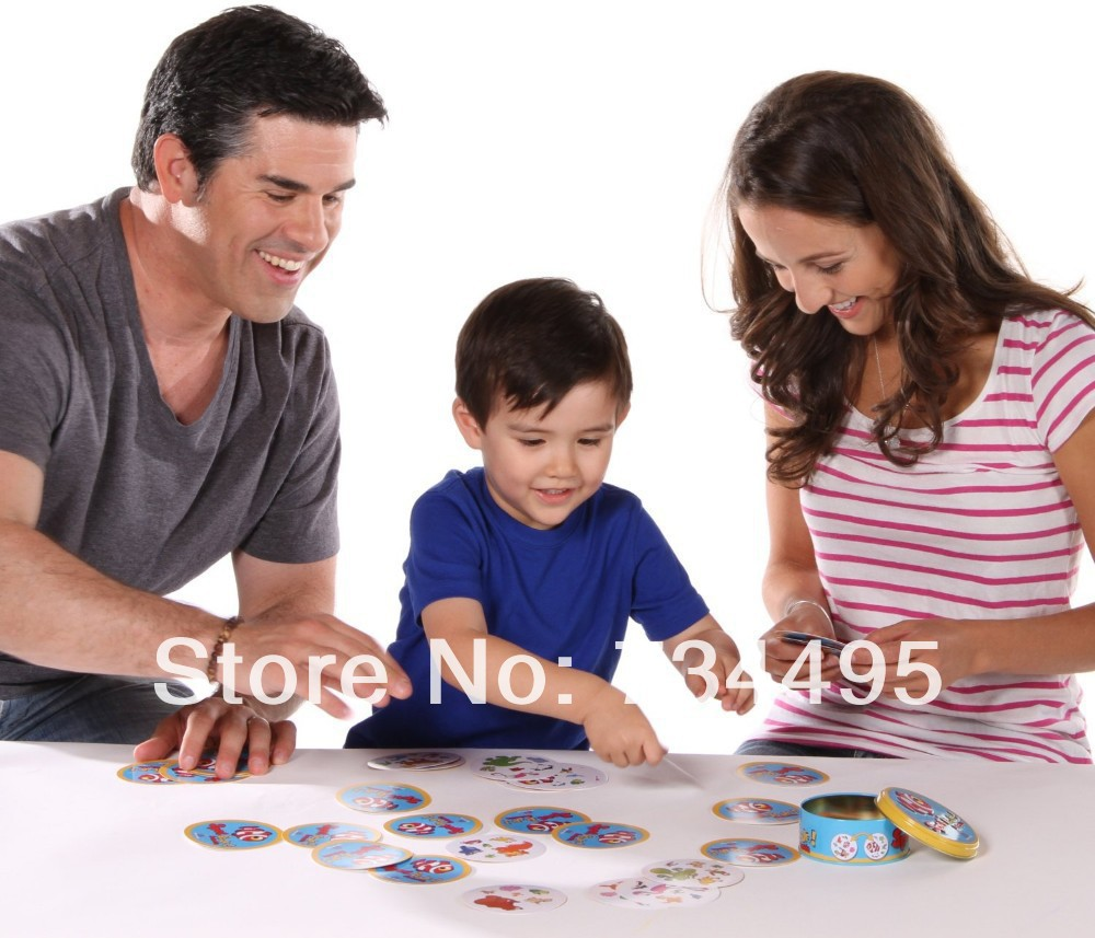 Fast-Paced Observation Game Let's Spot It Find & Match Card Game Party Game2013 Most Popular Board Game with Travel-size Tin(China (Mainland))