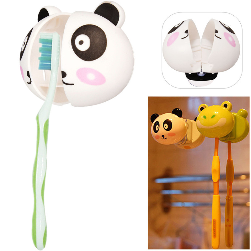 Brush Suction Cups Cartoon Panda Home Bathroom Wall Mount Toothbrush Spin Grip Wall Rack Holder Stand Mount(China (Mainland))