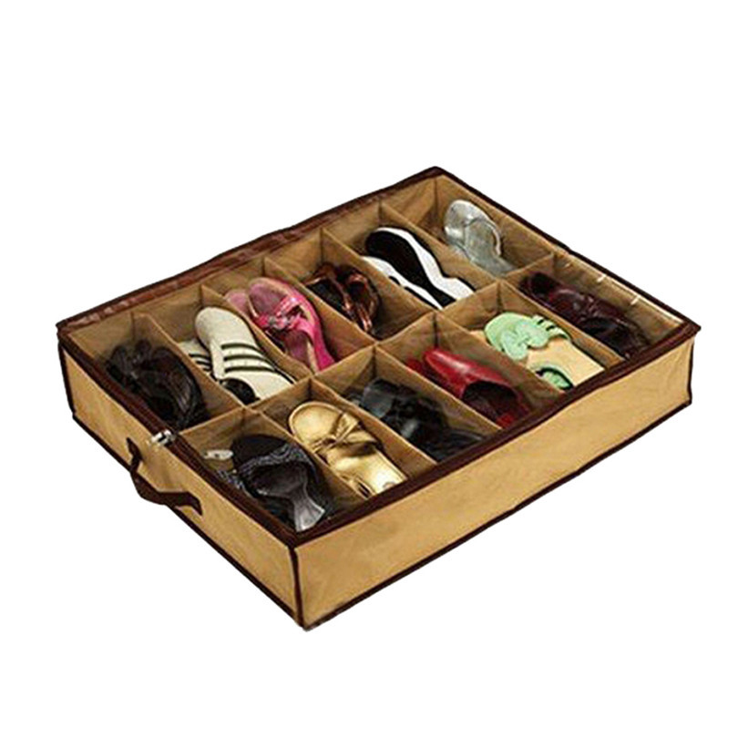 Durable Hot! 12 Transparent Admission Shoe Folding Storage Boxes Wholesale Fast Shipping(China (Mainland))