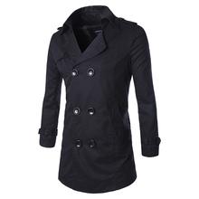 2016 spring loaded men long coat lapel coat spot F01 P80 high quality cotton(China (Mainland))