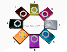 MINI clip MP3 Player with Micro TF/SD card Slot up to 8GB with cable+earphone with retail box multi-colors Free shipping 5000pcs(China (Mainland))