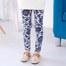 2-7Years Toddlers Baby Kids Girls Leggings Slim Pants Underwear Floral Printed Trousers