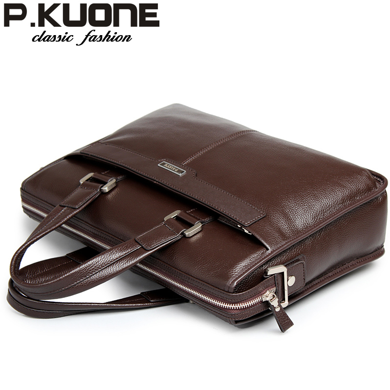 Leather bag handbag genuine leather man bag commercial cross-body first layer of cowhide briefcase male bag<br>