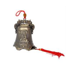 Feng Shui Budha Buddhisme Tembaga Bell Agama Angin Bell Buddha Gantung Dekorasi Rumah Berkat untuk Keberuntungan Lonceng Dekorasi Kerajinan(China)