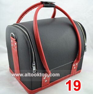 Free DHL/EMS Shoulder professional cosmetics bag fashion PU hard case makeup box 18 colors double open women make-up handbags<br><br>Aliexpress