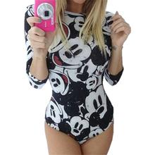 Gagaopt 2016 Summer Sexy Jumpsuits Women Half Sleeve Mouse Minie Print Cartoon Rompers Mini Sexy Vintage Harajuku Club Jumpsuits(China (Mainland))