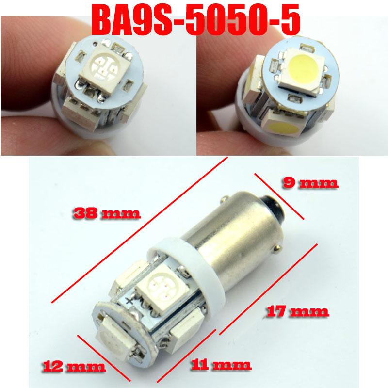 10x Car Marker Lamps T11 Ba9s T4w LED Bulb 5 LEDS Tower 5050 led 96 Lumen