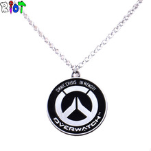 Buy Overwatch GOLO OW alloy Pendant Necklaces Tracer Reaper High Link Chain choker necklace keyChain Key Holder Jewelry gift for $1.89 in AliExpress store
