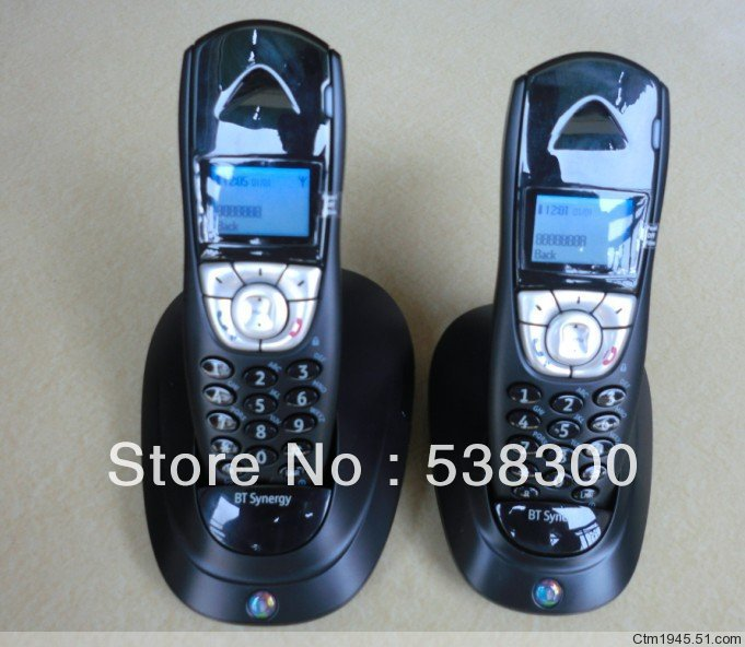 Free Shipping BT4100 DECT Cordless Phone Wireless Telephone Set Dual Handsets Digital Home Phone(China (Mainland))