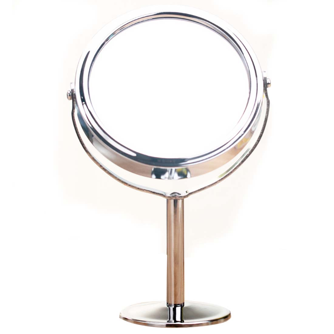 Beauty make up mirror dual side normal magnifying round for Small stand up mirror