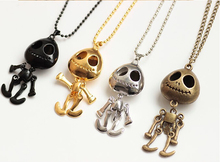 (bronze) big eyes UFO alien skull head a long paragraph sweater chain necklace Woman Luxurious Paragraph fashion !#119