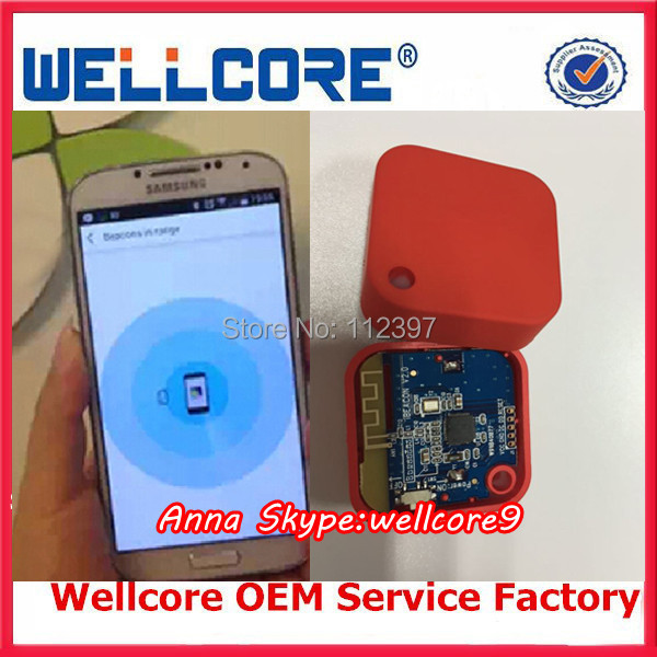 Free Shipping ! Wellcore Cheap bluetooth transmitter module ble beacon Advertise iBeacon moduleW903 with CR2477 Battery holder(China (Mainland))