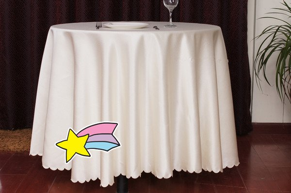 FREE SHIPPING,240cm WHITE ROUND BANQUET TABLECLOTH/ANTEPENDIUM,CAN BE CUSTOMIZED(China (Mainland))