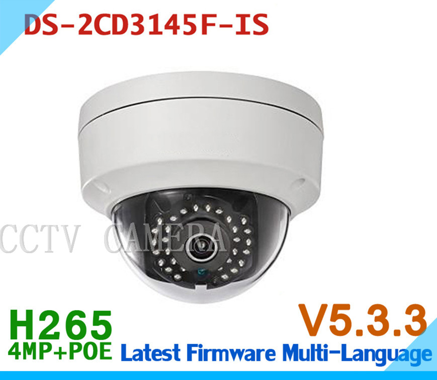Multi-language DS-2CD3145F-IS Full HD 4MP V5.3.3 Support H.265 HEVC With TF Card Slot &amp; Audio I/O Mini Dome POE IP CCTV Camera<br><br>Aliexpress